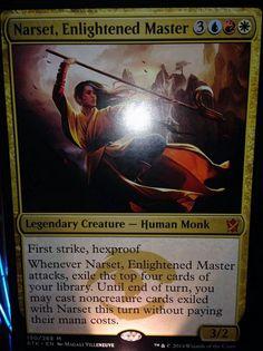 青赤白の神話モンク「Narset, Enlightened Master」