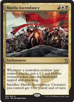 赤白黒クラン「マルドゥ」のレアエンチャント「mardu Ascendancy」