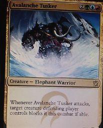 タルキール覇王譚ティムールの「Avalanche Tusker」