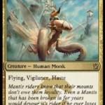 ジェスカイの「Mantis Rider」がebayに出品中!3マナ3/3飛行・警戒・速攻のトータルパッケージ!日本語版カード名は「カマキリの乗り手」!タルキール覇王譚プレビュー
