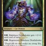 スゥルタイの猫悪魔「Rakshasa Dathdealer」が公開!熊の基本スペックに加えサイズアップと自己再生が可能!日本語版カード名は「ラクシャーサの死与え」!