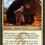 ティムールの多色アンコモン「Bear's Companion」が公開!巨大な熊を引き連れて戦場に降り立つ!日本語版カード名は「熊の仲間」!