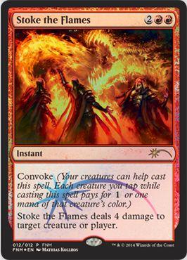 12月のFNMプロモ「Stoke the Flame(かき立てる炎)」