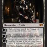 統率者2014でオブ・ニクシリスがプレインズウォーカーに!カード名は「Ob Nixilis of the Black Oath」!日本語版は「黒き誓約、オブ・ニクシリス」!