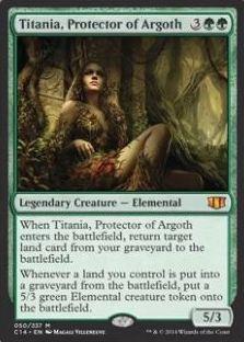 統率者2014の緑の伝説神話「Titania, Protector of Argoth」
