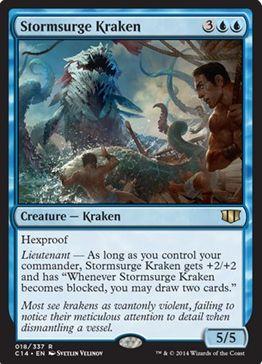 統率者2014の青レア「Stormsurge Kraken」