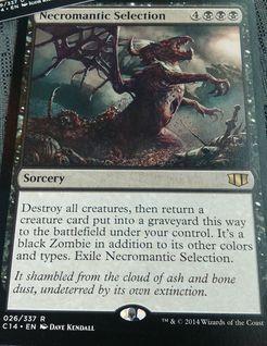 統率者2014の黒レア「Necromantic Selection」