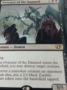 統率者2014の黒レア「Overseer of the Damned」