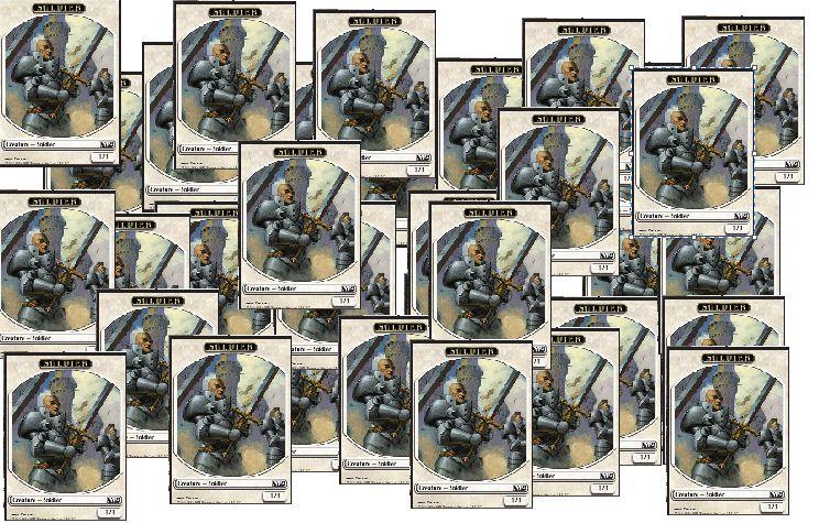 大量の兵士トークンの画像