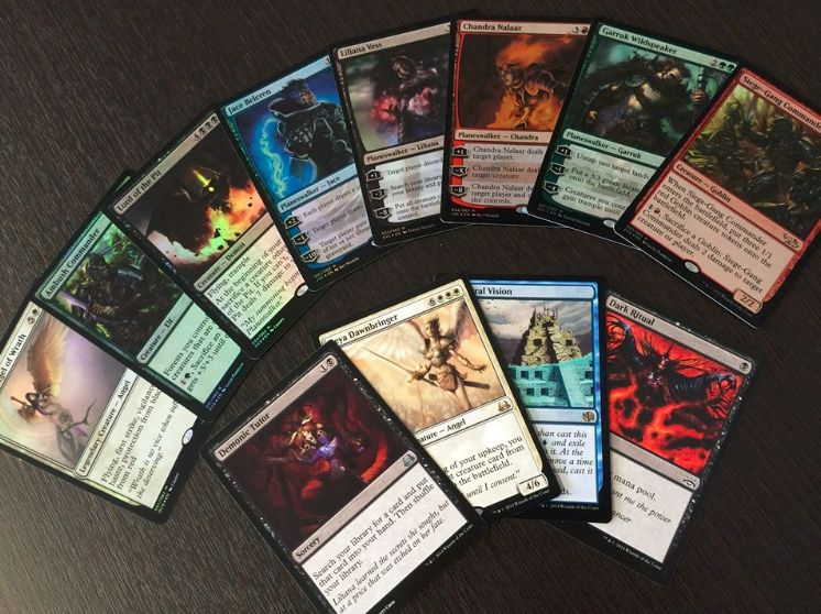 『Duel Decks: Elves vs. Goblins』     『Duel Decks: Jace vs. Chandra』     『Duel Decks: Divine vs. Demonic』     『Duel Decks: Garruk vs. Liliana』の収録カード抜粋
