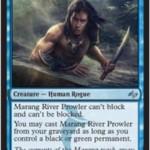 青アンコ「Marang River Prowler」が運命再編の非公式スポイラーで公開!ブロックできずブロックされず、条件次第で墓地からプレイ可能!日本語名は「マラング川をうろつく者」!