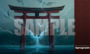 厳島神社のプレイマット(John Avon氏の描き下ろし)