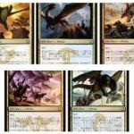 MTG「タルキール龍紀伝」のエントリーセットに収録される5体のレア多色ドラゴンが一挙公開!