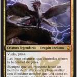タルキール龍紀伝に収録の伝説神話コラガン「Dragonlord Kolaghan」が公開!熱情内蔵&脅威の10点ライフロス!