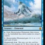 MTGタルキール龍紀伝に収録の青神話「Shorecrasher Elemental」が公開!3マナの「変異種」!?日本名は「岸砕きの精霊」!