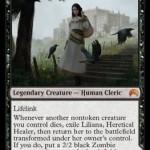 MTG「マジック・オリジン」に収録される黒神話「Liliana, Heretical Healer」が公開!人間だった頃のPWリリアナ!日本語名は「異端の癒し手、リリアナ」!