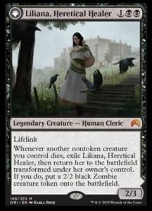 MTG「マジック・オリジン」に収録される黒神話「Liliana, Heretical Healer」