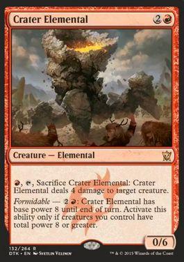 タルキール龍紀伝に収録の赤レア「Crater Elemental」