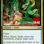 対抗呪文持ちクリーチャー「神秘の蛇」がモダンマスターズ2015に再録!