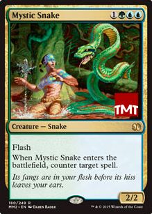 対抗呪文持ちクリーチャー「神秘の蛇」(モダンマスターズ2015)