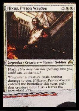 MTG非公式スポイラーにてマジック・オリジンの白レア「Hixus, Prison Warden」
