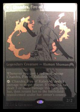 人間時のチャンドラ「Chandra, Fire of Kaladesh」(マジック・オリジン)
