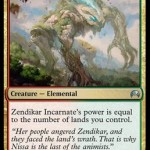 マジック・オリジンに収録の赤緑エレメンタル「Zendikar Incarnate」が非公式スポイラーで公開!土地の枚数と同じパワーを獲得!日本語名は「ゼンディカーの具現」!