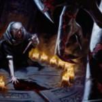 マジック・オリジンの黒レア生物「血の儀式の司祭」が公開!5マナ7/7相当だが毎ターンのライフロスも付いているデメリットアタッカー!