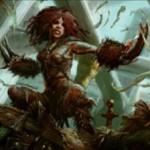 マジック・オリジンの赤レア生物「瘡蓋族の狂戦士」が公開!3マナ2/2「速攻」「高名」で高名状態ならば非クリーチャー呪文を唱えたプレイヤーに2点ダメージ!