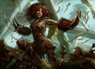 マジック・オリジンの赤レア生物「瘡蓋族の狂戦士」