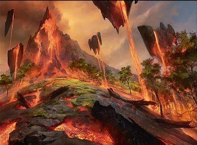 燃えがらの林間地