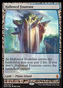 神聖なる泉 (Hallowed Fountain 戦乱のゼンディカー プレミアム神話レア)