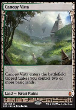 梢の眺望(Canopy Vista 戦乱のゼンディカー プレミアム神話レア)