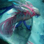 ディミーア・エルドラージ「Scavenger of the Depth」が戦乱のゼンディカーの非公式スポイラーにて公開!欠色&接死&嚥下&ドローとライブラリー追放を行う起動型能力を有する一枚!※日本語名「深水の大喰らい」が判明!