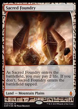 聖なる鋳造所(Sacred Foundry)(戦乱のゼンディカー プレミアム神話レア)