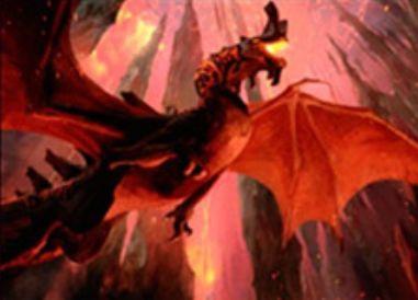 赤レアのドラゴン「Spawn of Akoum」(戦乱のゼンディカー)