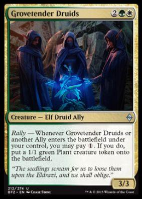 Grovetender Druids(戦乱のゼンディカー)