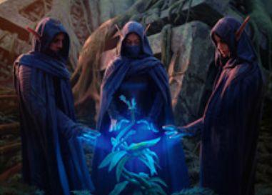 セレズニアカラーの同盟者「Grovetender Druids」(戦乱のゼンディカー)