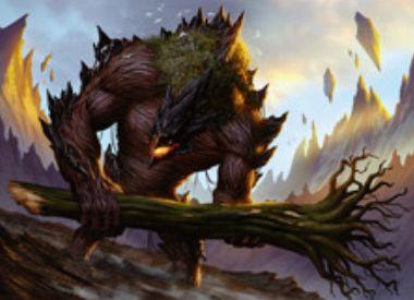 グルールカラーのアンコ生物「Grove Rumbler」(戦乱のゼンディカー)