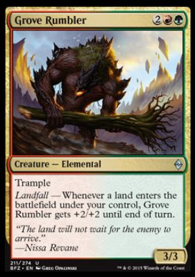Grove Rumbler(戦乱のゼンディカー)