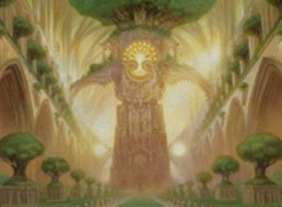 プレミアム神話レアの「寺院の庭(Temple Garden)」(戦乱のゼンディカー)