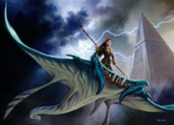 シミックカラーの同盟者「Skyrider Elf」(戦乱のゼンディカー)