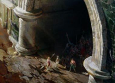 白黒レアのソーサリー「March from the Tomb」(戦乱のゼンディカー)