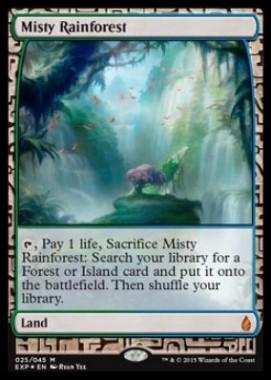 霧深い雨林(Misty Rainforest)(プレミアム神話レア Zendikar Expeditions 戦乱のゼンディカー)