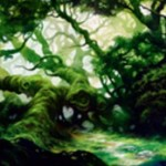 戦乱のゼンディカーのコモン緑土地「Fertile Thicket」が公開!CIPでライブラリートップ5枚を見て、基本土地を手札に加える!※日本語名は「肥沃な茂み」!
