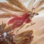 赤白レアの同盟者天使「Angelic Captain」が公開!アタック時に他のアタックしている同盟者の数だけP/Tが向上!※日本語名「天使の隊長」が判明しました!