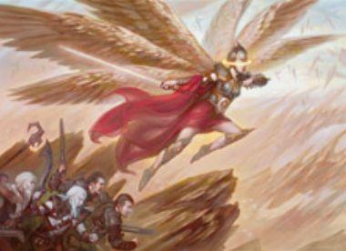赤白レアの同盟者天使「Angelic Captain」(戦乱のゼンディカー)