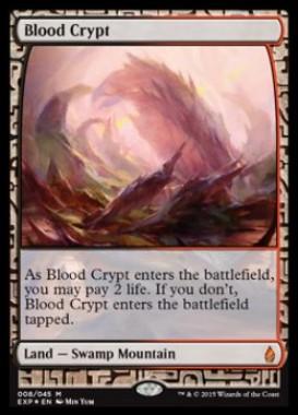 血の墓所(Blood Crypt)(プレミアム神話レア Zendikar Expeditions 戦乱のゼンディカー)