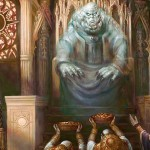 白黒の伝説神話「Karlov Of The Ghost Council(統率者2015)」が公開!ライフ回復時にサイズアップ&+1/+1カウンターを使ってクリーチャーを追放!※日本語版カード「幽霊議員カルロフ」が公開!※カルロフのコラムがMTG公式にて掲載!