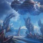 ゲートウォッチの誓いに収録の神話土地「Mirrorpool」が公開!新シンボルのマナを生産&呪文やクリーチャーをコピー!※日本語版カード「鏡の池」が公開!